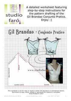 """""""Vintage Style Pattern Making - #SelfDraft (download)"""" Includes detailed notes and diagrams. #VintageStyle #Sewing"""
