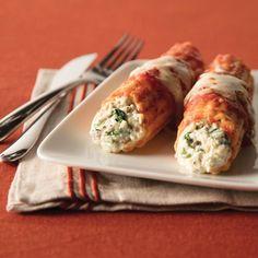 Spinach & Mushroom Stuffed Manicotti Recipe -Recipe courtesy of Galbani Cheese