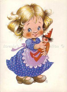 Füzesi Zsuzsa - Lorenin's Collection Princess Peach, Disney Princess, Cute Clipart, Vintage Children, Cute Pictures, Little Girls, Disney Characters, Fictional Characters, Cinderella