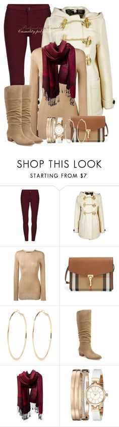 """Burberry & Gucci Trendy Chic"" by casuality ❤ liked on Polyvore featuring Burberry, Gucci, River Island, Marc Fisher LTD and Anne Klein"