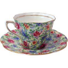 Rosina Chintz 5042 English Bone China Tea Cup and Saucer