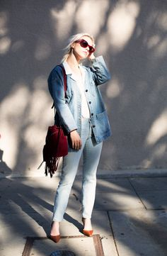 30 New Ways to Style Your Jean Jacket ThisSpring   StyleCaster