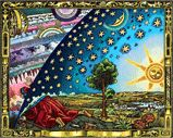 'Flammarion Woodcut Flat Earth Design Canvas Print by Mc Escher, Escher Kunst, Banksy, Flat Earth Movement, What Is Birthday, Earth Poster, Earth Design, Poster Making, Supernatural