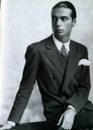 Cristobal Balenciaga - Spanish fashion designer who founded fashion house Balenciaga. Changed the silhouette to broad shoulders and no waist.