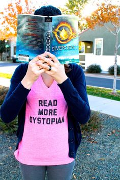 A Read More Dystopian Shirt for Bookworms by AppraisingPagesShop