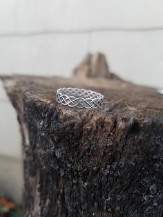 In the interest of bringing new types of geeky jewelry into the store, Ive been practicing with making simple stacking rings. **NOT ELIGIBLE FOR COUPON DISCOUNT **  These rings are made to order and come in a variety of sizes. Band is approx. 5mm wide and solid die-cast. Pair with other stacking ring listings in my store, free shipping is being offered on many of the stacking rings to save costs to the buyer! Silver section: www.etsy.com/shop/GeekOUTlet?ref=hdr_shop_menu&se...