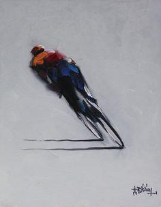 cycling art road bike