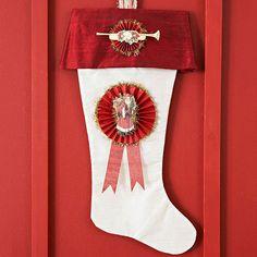 Santa-Medallion Stocking