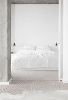 Taking minimalism to a new level... but what else do you need if you have a good bed and some nice white sheets!