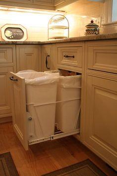 Bins!  Kitchen Storage Ideas