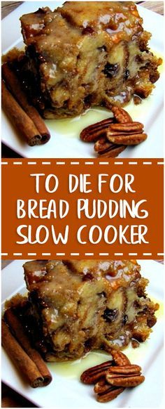 To Die For Bread Pudding Slow Cooker – Fresh Family Recipes recipes family;dinner recipes for family;healthy recipes for family;recipes for family; Slow Cooker Desserts, Crock Pot Desserts, Köstliche Desserts, Slow Cooker Recipes, Delicious Desserts, Dessert Recipes, Yummy Food, Recipes Dinner, Slow Cooker Bread Pudding