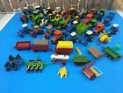 Large Lot of Ertl Die-Cast 1/64 Scale Tractors & Farm Implements Case Ford More!
