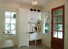 Small Entryway Storage Design Ideas, Pictures, Remodel, and Decor Mudroom Laundry Room, Laundry Room Design, Closet Mudroom, Utility Closet, Entryway Storage, Built In Storage, Closet Storage, Entryway Bench, Entry Organization