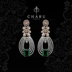 Go Green with #Diamond #jewelery , #designer #real #diamond #jewelery from #Charu #jewels