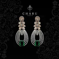 Go Green with #Diamond #jewelery , #designer #real #diamond #jewelery from #Charu #jewels