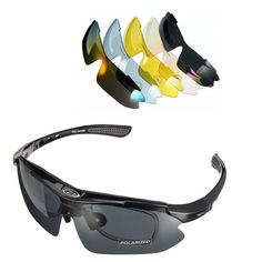 Sale 26% (13.79$) - Outdoor UV400 Polarized Glasses Cycling Bike Bicycle Sunglasses Goggles With 5 lens