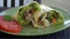 guacamole chicken wraps - so good! They keep well in the fridge for a few days too, even the guacamole
