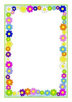 Flowers A4 page borders (SB10393) - SparkleBox                              …