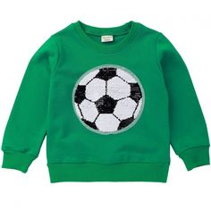 OWMMIZ Girls Boys Children Magic Sequin Sweatshirt Cotton Pullover Top, Long Sleeve Kid's T-Shirts for Autumn and Winter Winter Baby Clothes, Baby Winter, Kids Tops, Cartoon Boy, Boys Sweaters, Long Sleeve Sweater, Printed Cotton, Cool Kids, Boy Or Girl