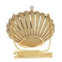 Michaela Evening Chain Purse / shell Gold