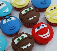 Disney Inspired Baby Shower Cupcakes For Boys - Cars