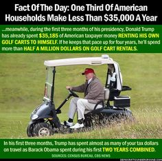 To hell with golf carts -- they don't go that fast, let the Secret Service walk or run.  Or have Trump provide the carts free (as she should have been doing from day one.)