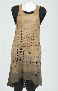 Felted Merino wool dress | Pam Hovel