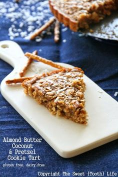 Culinary Couture: Almond Butter Coconut and Pretzel Cookie Tart