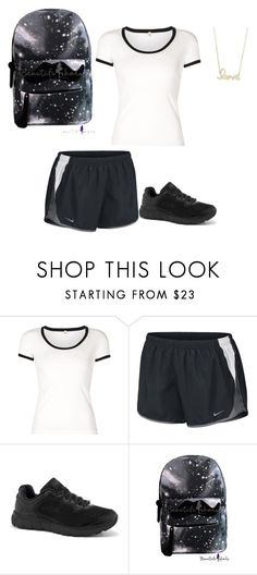 """Untitled #3669"" by gone-girl ❤ liked on Polyvore featuring R13, NIKE, Fila and Sydney Evan"