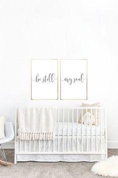 YOU PRINT PRINTABLE Wall Art Be Still My Soul 2 24x36 Jpegs - Home Decor, Nursery Decor, Nursery Decoration, Baby Room, Above Crib