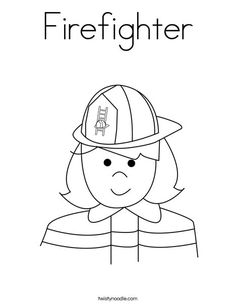 Firefighter Coloring Page | Firefighter, Worksheets and Fire safety