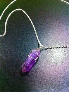 Ataraxia Amethyst Necklace by LeslieRead on Etsy, $16.00 *soo pretty!*