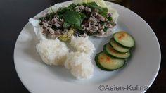 Laab Moo – Thailändischer Hackfleischsalat | asien-kulinarisch.de