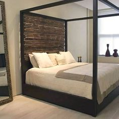 Four posted bed.. Zen Design