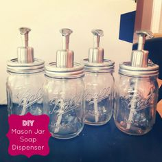 DIY mason jar soap dispensers - for only $5 each!