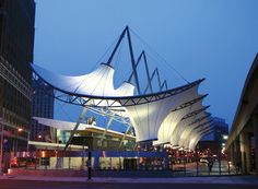 Award of Excellence for tensile structures more than 2322 sq.m: Rosa Parks Transit Center