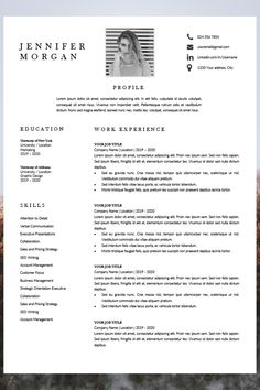 resume with photo - creative cv templates - professional cv template - cv resume format Creative Cv Template, Modern Resume Template, Resume Templates, Microsoft Word 2007, Professional Cv, Resume Format, Cover Letter Template, Resume Design, New Job