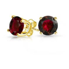 Bling Jewelry Round Gold Vermeil Garnet Color CZ 925 Silver Stud... ($16) ❤ liked on Polyvore featuring jewelry, earrings, red, red earrings, sterling silver jewelry, cubic zirconia earrings, cz earrings and stud earring set