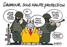 L'humour sous haute protection. #PhilippeGeluck #SoireeJeSuisCharlie #JeSuisCharlie