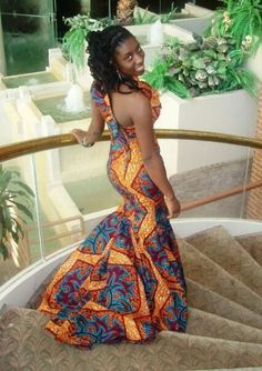 African Dresses Ankara Style - DeZango Fashion Zone This is Africa y'all! African Wedding Dress, African Print Dresses, African Fashion Dresses, African Dress, African Prints, African Clothes, Ankara Fashion, African Fabric, African Attire