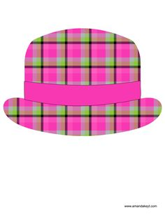 Hat from Hipster Pink Printable Photo Booth Prop Set