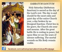 "Sabbatum Sanctum – Holy Saturday: ""Watching"" and The Easter Vigil of the Holy Night – AnaStpaul Catholic Answers, Catholic Beliefs, Catholic Prayers, Catholic Traditions, Christianity, Catholic Lent, Catholic Catechism, Catholic Saints, Christmas Traditions"