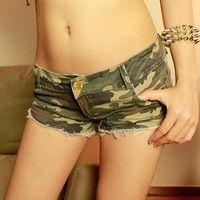 Wish | Summer Shorts sexy camouflage shorts denim shorts
