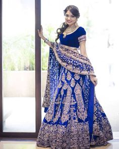 Manish Malhotra blue #bridal lehenga
