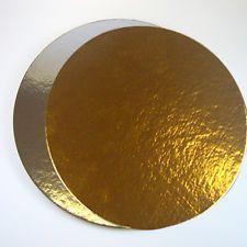 Dortová podložka zlatá lesklá, kruh 30 cm