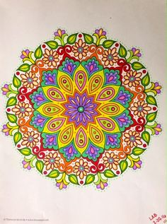 #flowermandala colorbyleeannbreeding 2 29 16