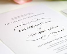 French Romance Wedding Invitations - Wedding Invitations by Shine