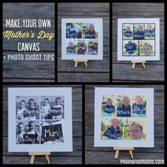 Handmade Mother's Day Canvas! Complete with Photo Shoot Ideas and Tips!