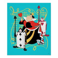 Off With Their Heads, Disney And More, Queen Of Hearts, Custom Greeting Cards, Custom Posters, Postcard Size, Custom Framing, Alice In Wonderland, Paper Texture