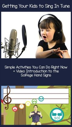 Teach your kids to sing in tune with these simple activities you can do right now! Plus, a video introduction to the Solfege hand signs from Mr. Rob. Preschool music lessons and more!